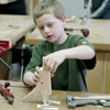 T-rex kids woodworking project plans; woodworking for kids; easy, fun, kid friendly woodworking craft