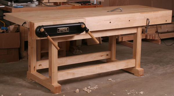 we have more than two dozen articles and videos about workbenches including full project plans - Workbench Design Ideas