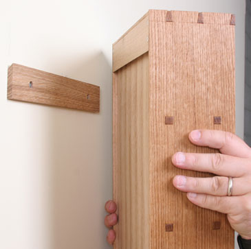 How To Hang A Cabinet On The Wall Finewoodworking