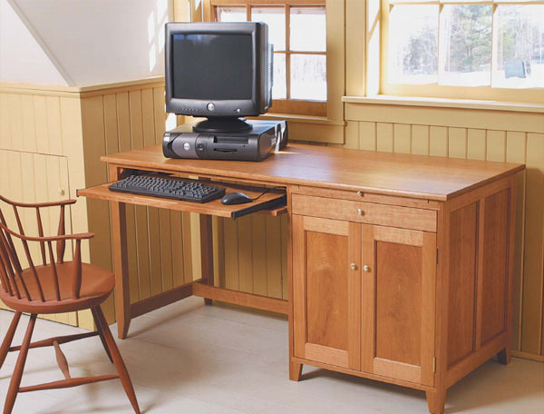 Build A Computer Desk Finewoodworking