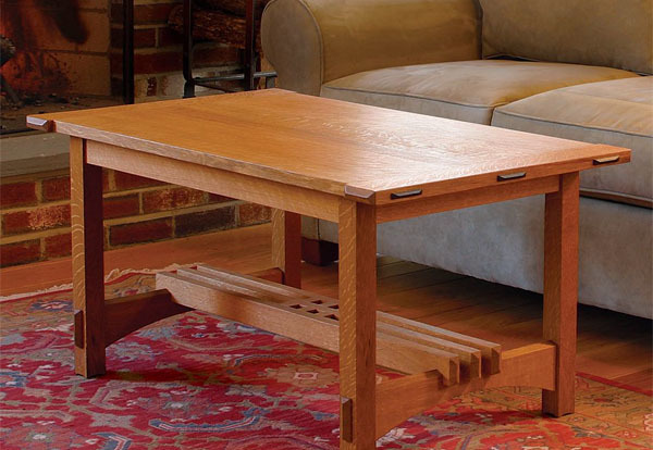 Coffee Table Puts Joinery On Display Finewoodworking