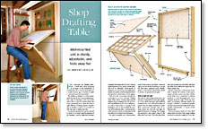Shop Drafting Table - FineWoodworking