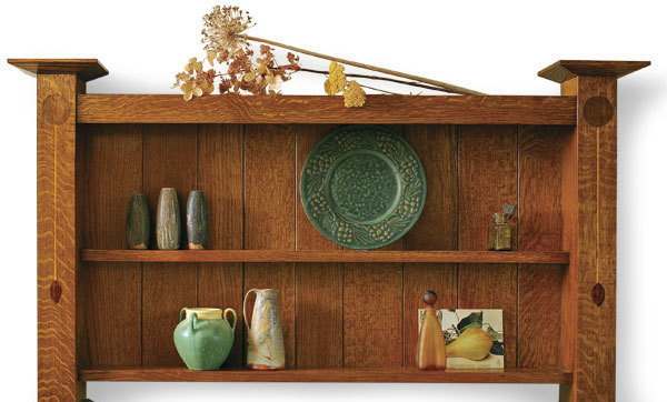 Assemble An Arts and Crafts Wall Shelf - FineWoodworking
