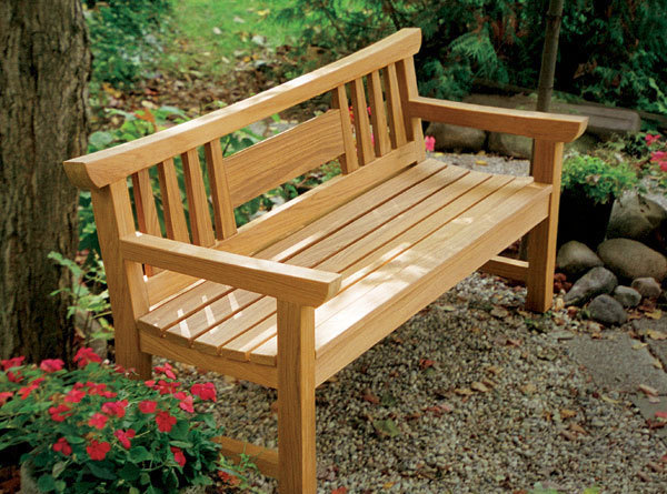 Brilliant Russell Jensens Japanese Garden Bench Finewoodworking Machost Co Dining Chair Design Ideas Machostcouk