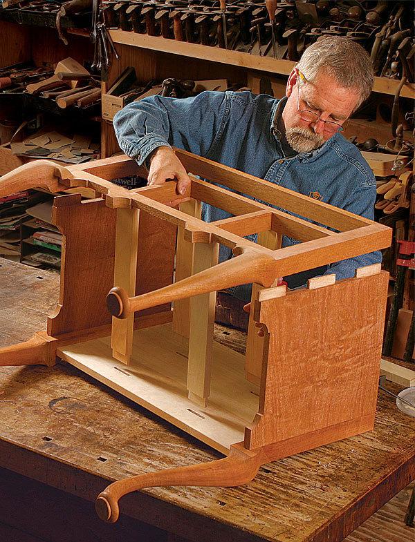 The high art of the lowboy finewoodworking for Queen anne leg template