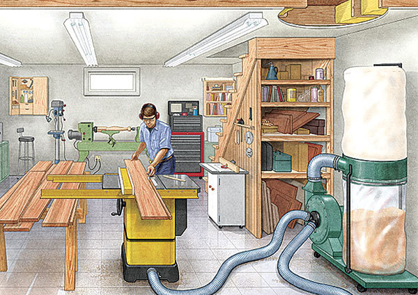 15 Tips For Basement Workshops Finewoodworking