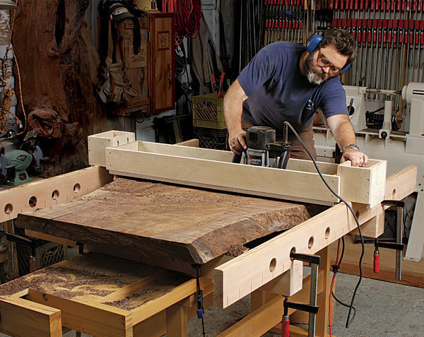 Flattening Wood Slabs With A Router Jig