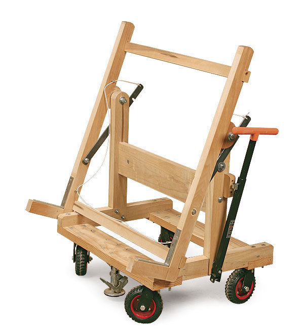 Pivoting Plywood Cart Finewoodworking