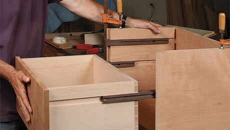 how to make full extension wood drawer slides for fine furniture