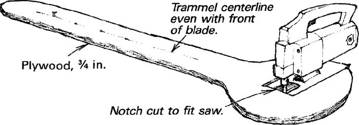 Superior A Jigsaw Can Quickly Cut Circles Or Large Holes With This Simple Trammel  Made From Scrap Plywood. Cut The Trammel Leg To Any Convenient Length, ...