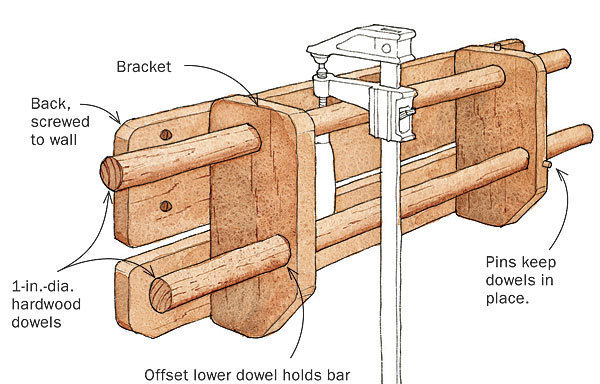 Two Clever Clamp Racks Finewoodworking