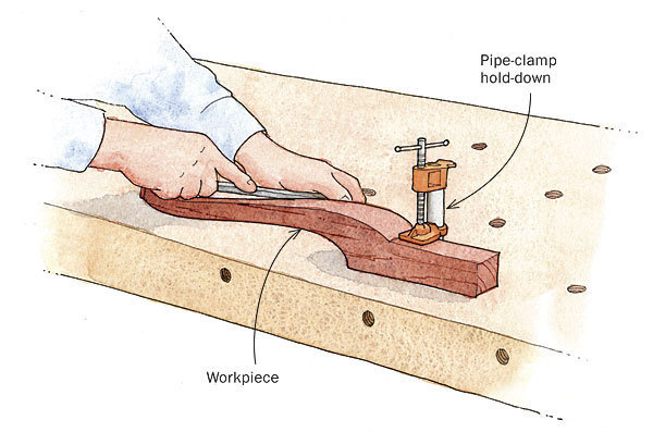 Pipe Clamp Parts Make Workbench More Versatile Finewoodworking