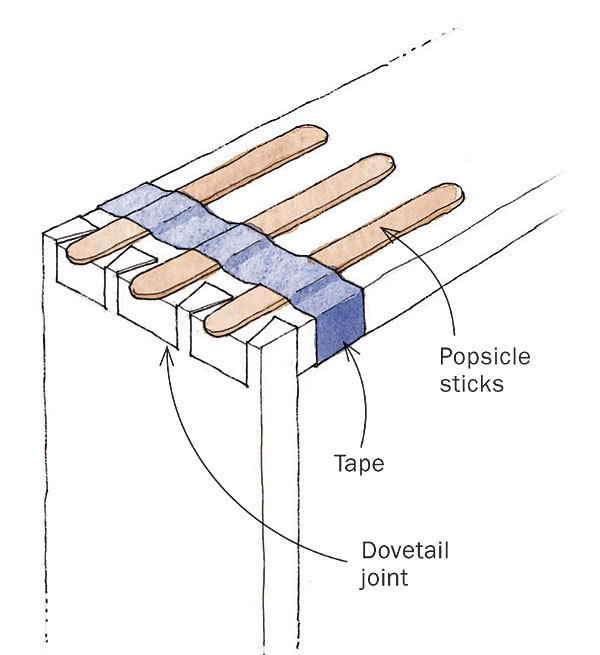 Extra Clamp Pressure for Dovetail Joints - FineWoodworking