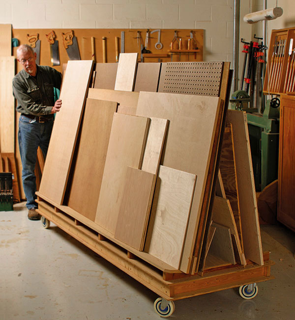 Lumber rack on wheels finewoodworking