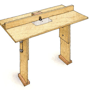 Quick Tip Router Table Backer Block Finewoodworking