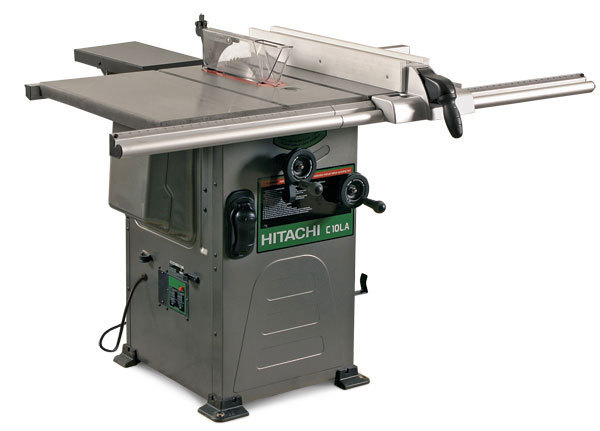 Hitachi Has Stepped Into The Cabinet Saw Market With A 10 In., Left Tilting  Hybrid (model C10LA). Rated At 1 1/2 Hp, The 110v/15 Amp Motor Has The  Power To ...