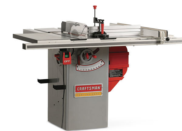 Craftsman 22124 hybrid tablesaw finewoodworking the craftsman 22124 tablesaw includes an outfeed table and a 12 in wide side table its blade guard and splitter are easy to remove and replace greentooth Gallery