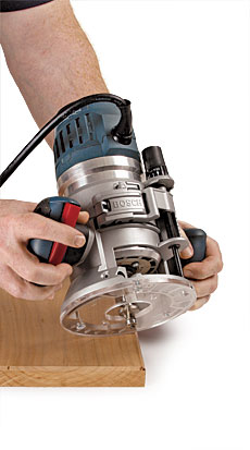 Bosch mrc23evsk combination router kit finewoodworking a router combo kit is one of the most versatile economical equipment purchases a woodworker can make with it you get a plunge base and a fixed base that greentooth Images