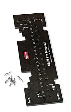 woodpeckers inc combo shelf pin template finewoodworking