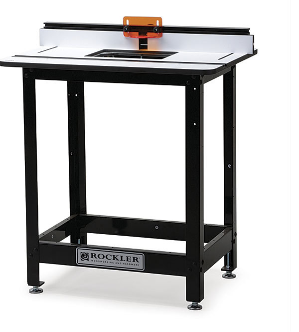 Rockler pro phenolic table with steel stand finewoodworking light but strong table greentooth Image collections