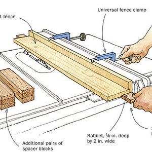 leigh isoloc hybrid dovetail templates - a simple tapering jig finewoodworking