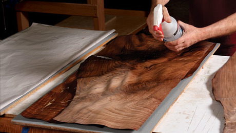 how to use veneer woodworking video