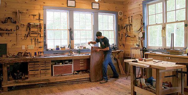 Freestanding dream shop finewoodworking for Online garage design tool