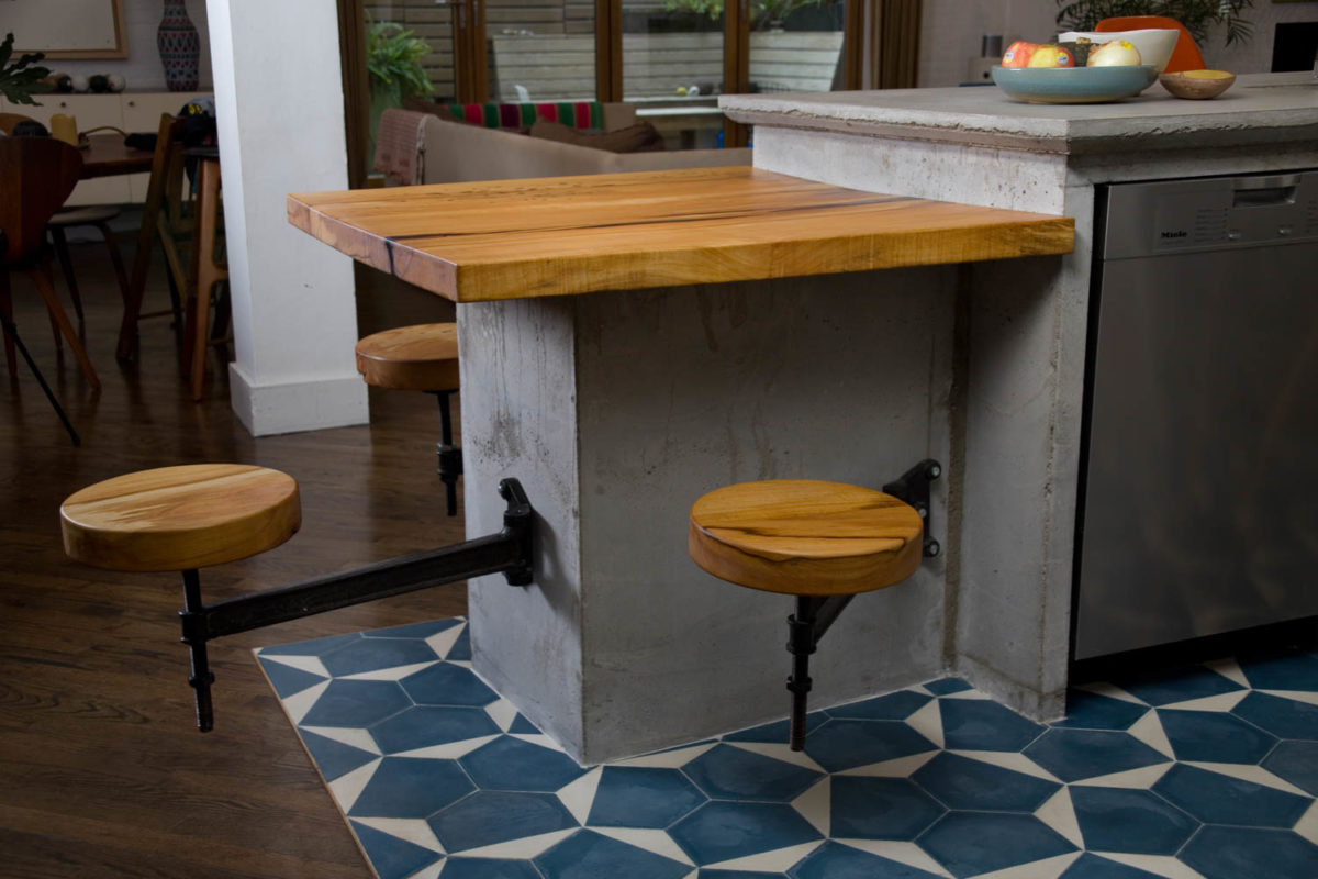 Silver Maple Countertop and Stools - FineWoodworking