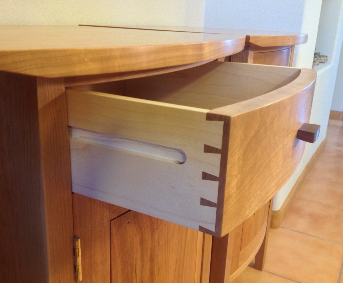 Curved Front Cherry Bedside Tables Finewoodworking