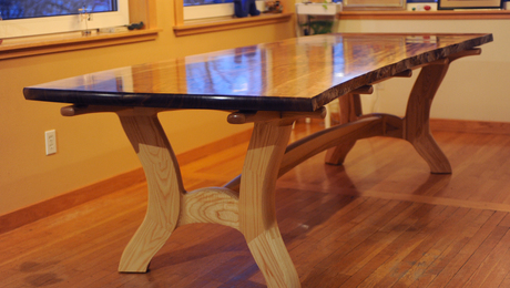 Walnut Slab And Ash Dining Table Finewoodworking