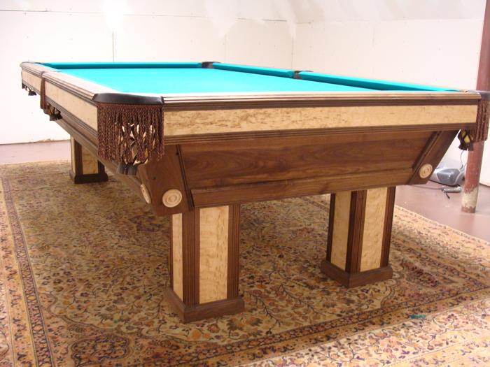 Pool Table Walnut Birdseye Maple FineWoodworking - First pool table
