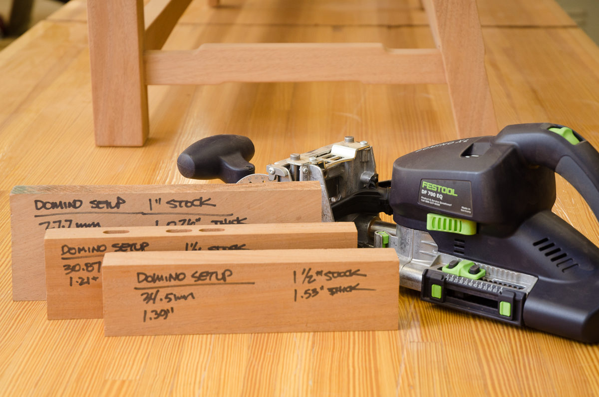 centering the festool domino on imperial based materials