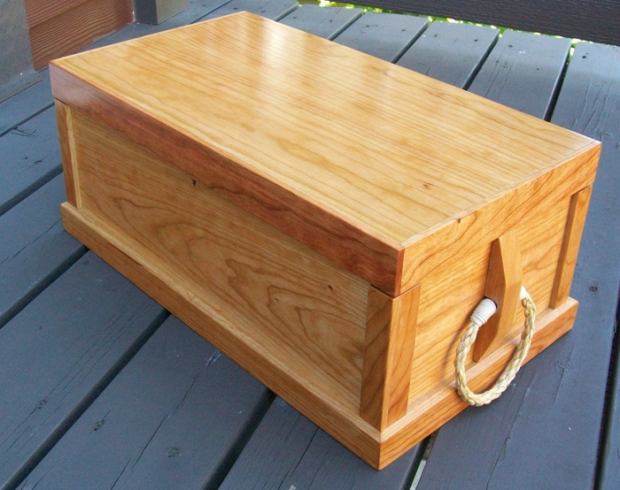 A Sea Captains Ditty Box Built From American Cherry Wood. Dimensions: 20u2033  By 10 78u2033 By 7 1/4u2033 . Inside Finish: Watco Danish Oil Natural With Water  Based ...