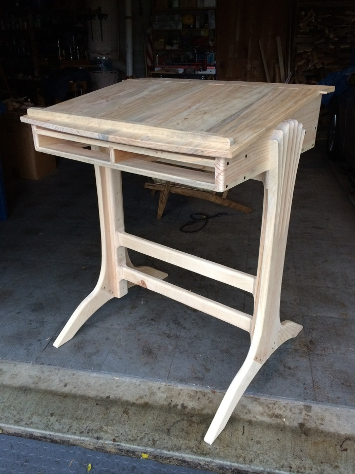 A Wooden Hinge For The Stand Up Desk Finewoodworking