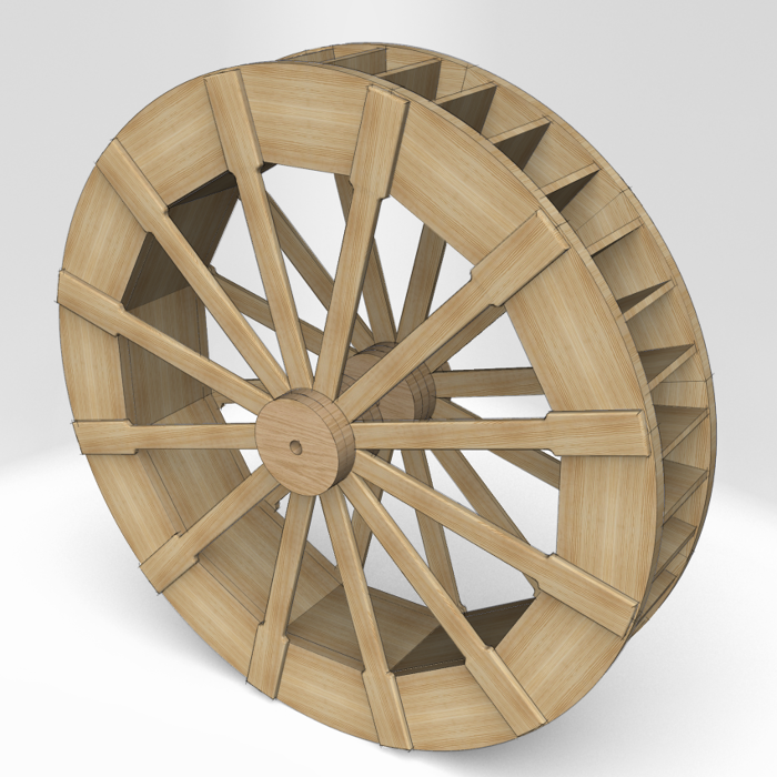 Drawing A Water Wheel Finewoodworking