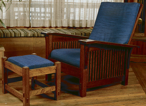 Morris Chair And Ottoman Finewoodworking