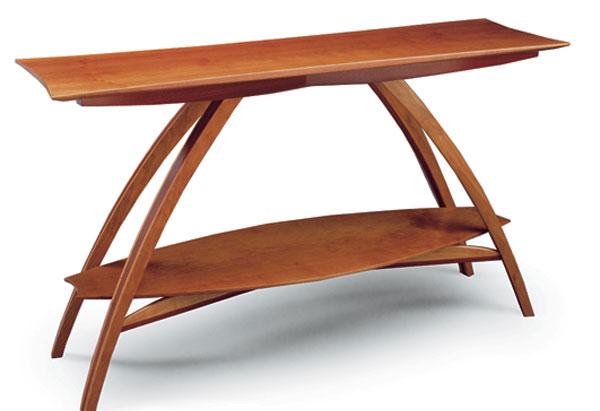 Genial Curved Leg Hall Table