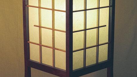 Japanese style floor lamp finewoodworking aloadofball Images