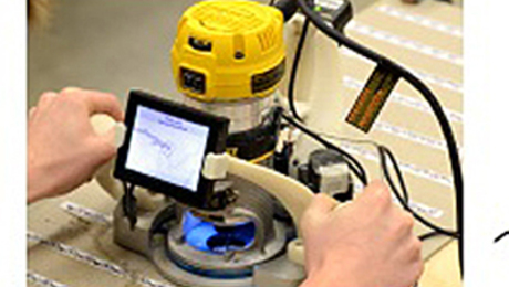 mit students  professor invent handheld cnc router system finewoodworking