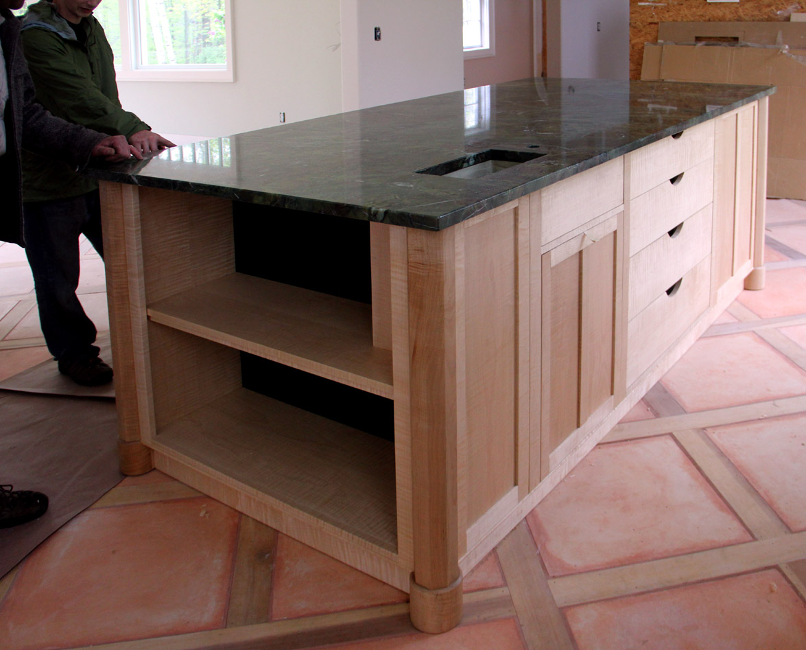 kitchen islands cabinets a custom kitchen island finewoodworking 13584