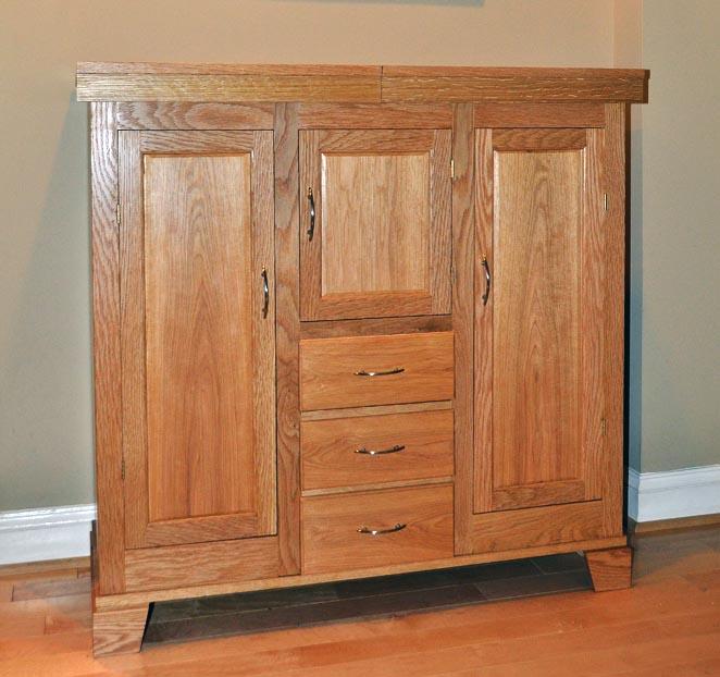 Liquor Cabinet in White Oak - FineWoodworking