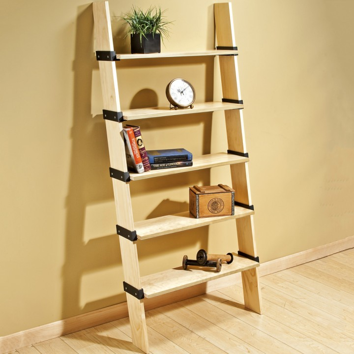 Great rockler projects for brand new woodworkers for Diy ladder bookcase