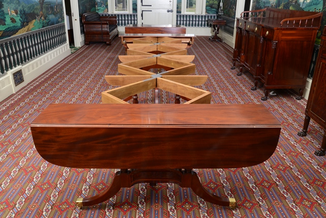 Duncan Phyfe Round Table With Drawer.Federal Dining Table By Duncan Phyfe Finewoodworking
