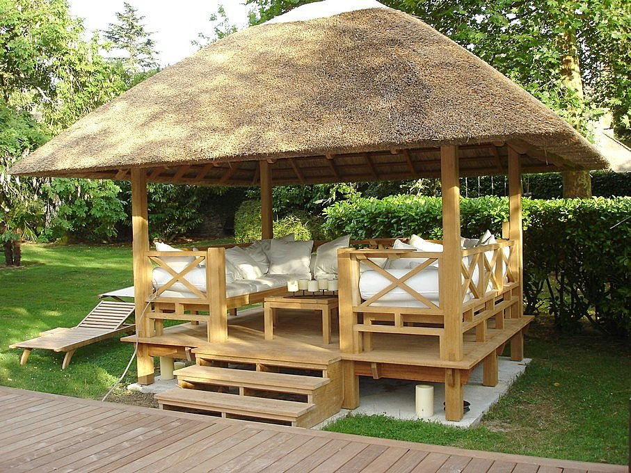 wooden gazebos adding style to your garden finewoodworking. Black Bedroom Furniture Sets. Home Design Ideas