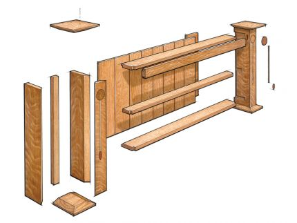how to build an arts and crafts wall shelf finewoodworking rh finewoodworking com arts and crafts style wall shelves arts and crafts style shelves
