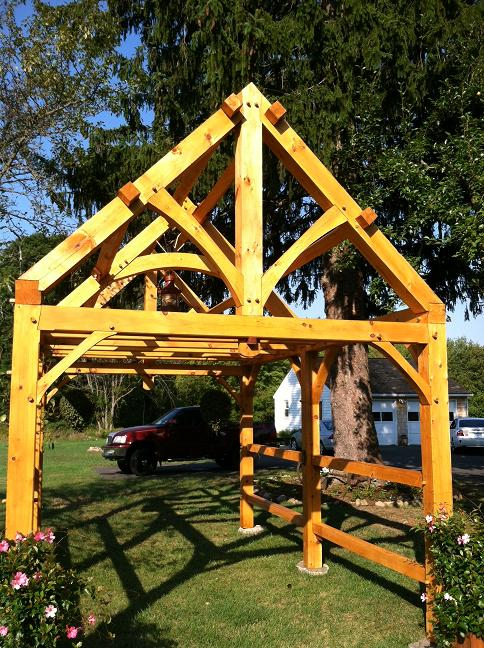 Timber Frame - Future Greenhouse - FineWoodworking