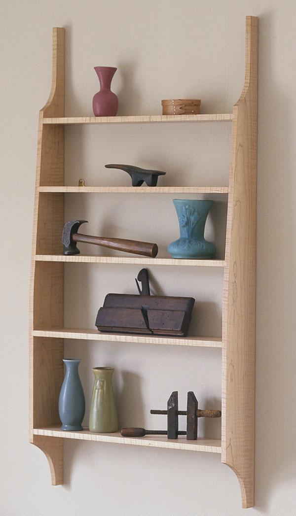 shaker style wall shelf finewoodworking rh finewoodworking com shaker style kitchen shelves
