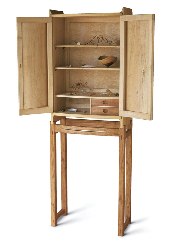 Spalted Maple Cabinet-on-Stand - FineWoodworking