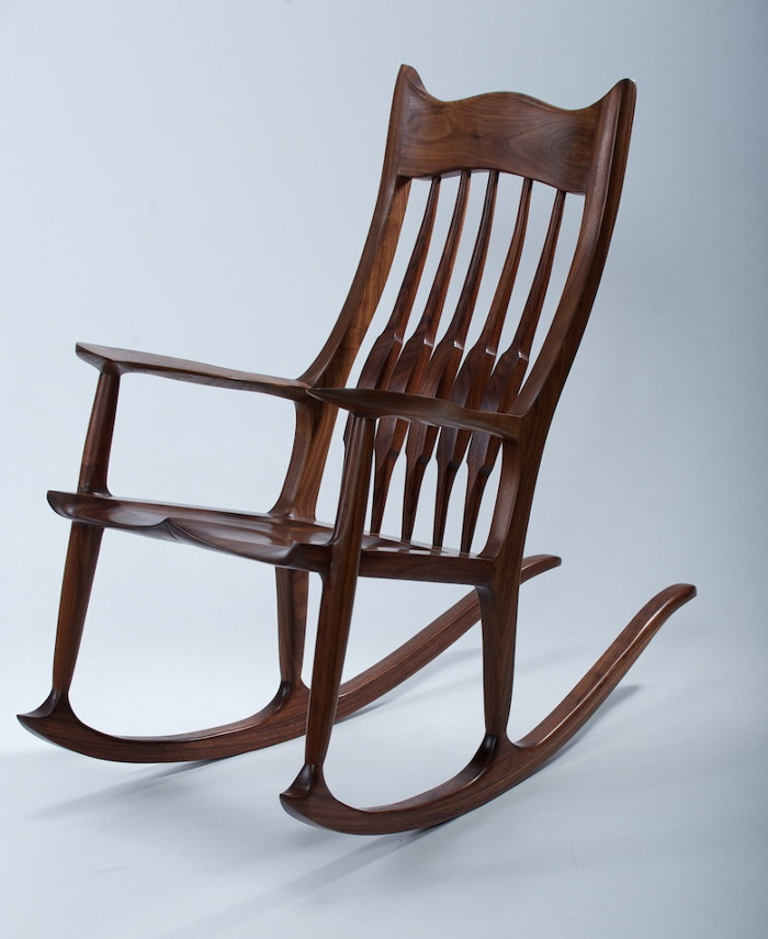 Marvelous Sam Maloof Inspired Rocker Finewoodworking Caraccident5 Cool Chair Designs And Ideas Caraccident5Info