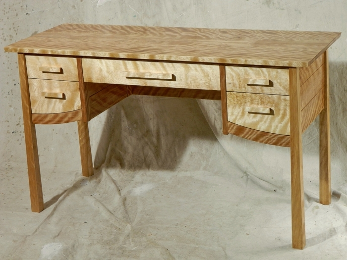 Flame Birch Desk Finewoodworking